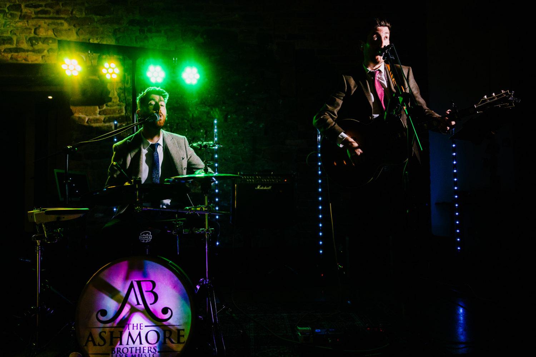 Band performing at a wedding