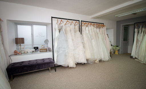 Dresses ready for a wedding