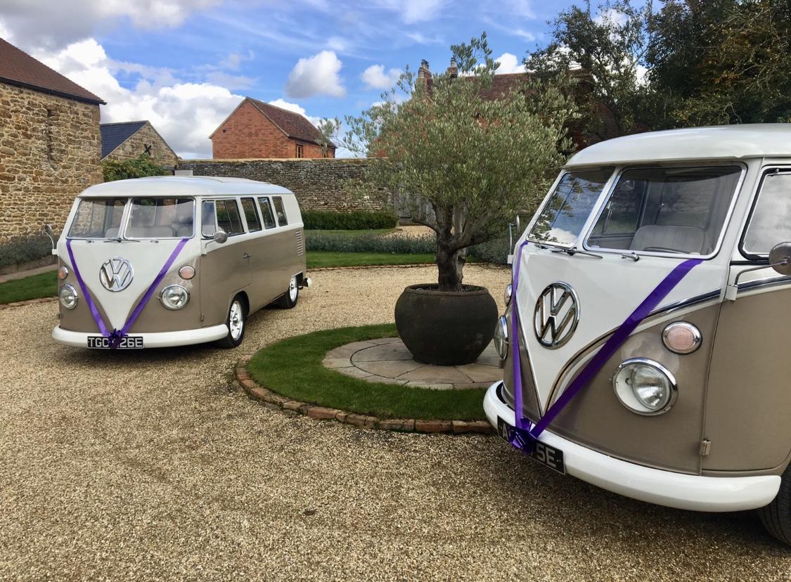 VW vans at a wedding