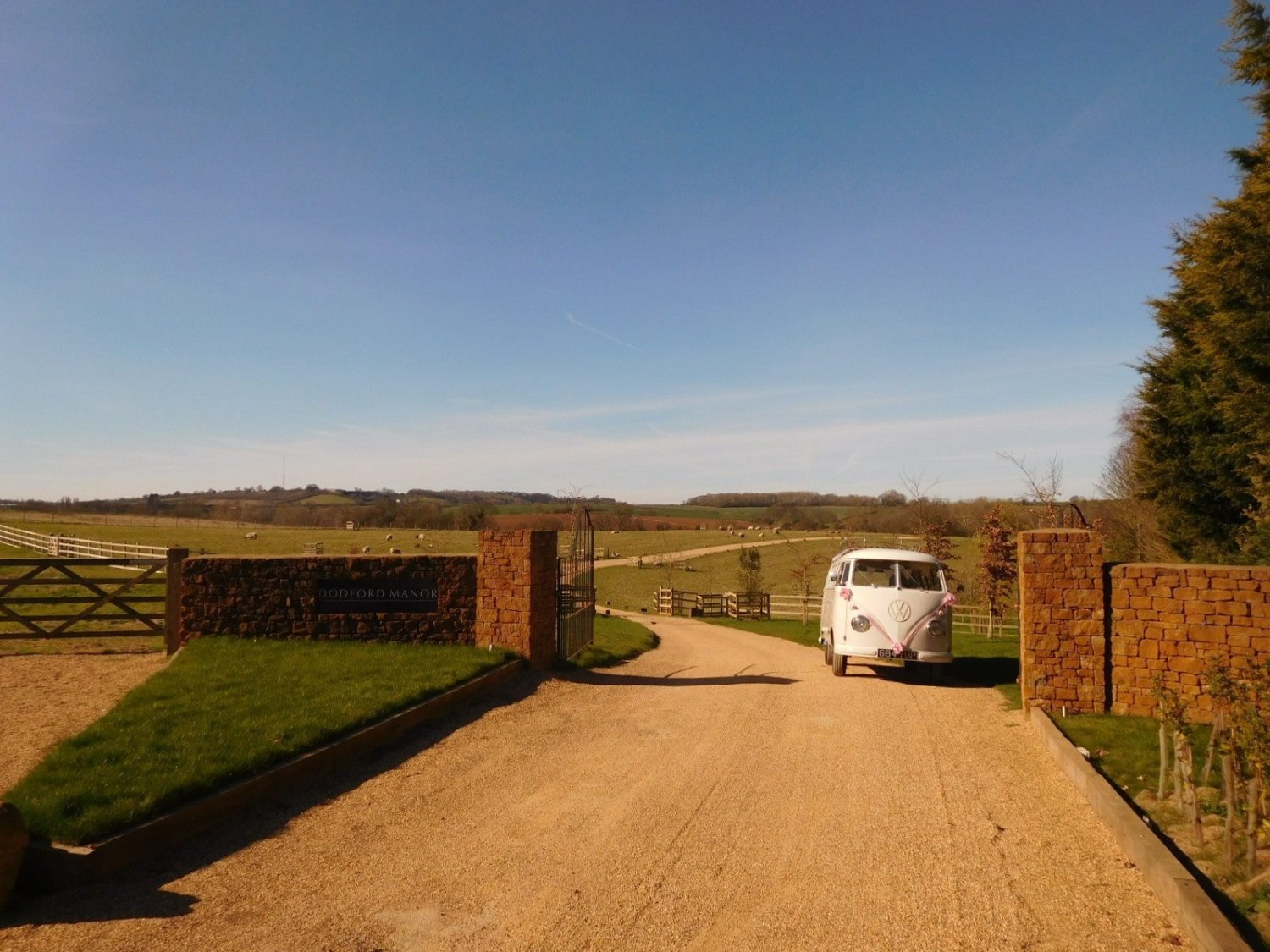 Driveway in the countryside