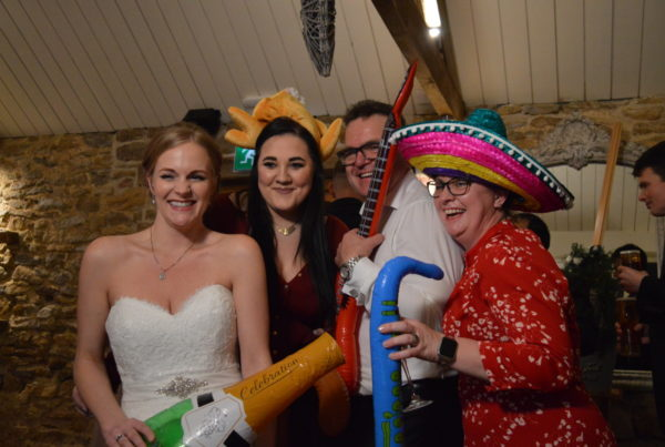 Fancy dress at a wedding