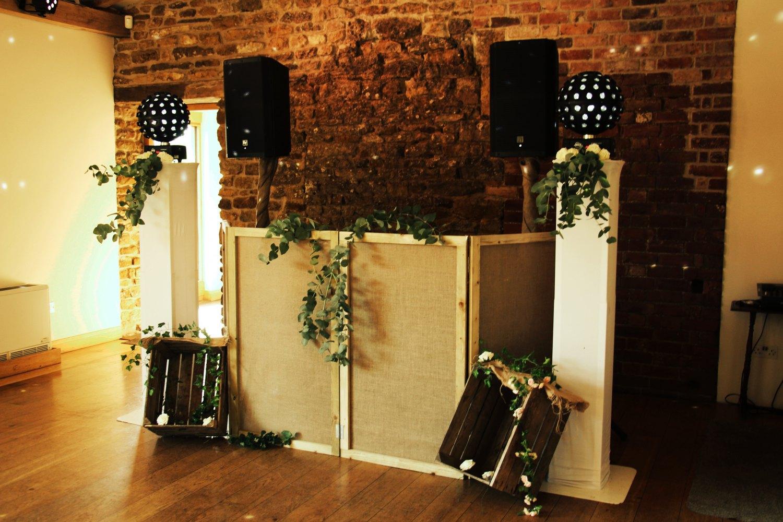 DJ set at a wedding