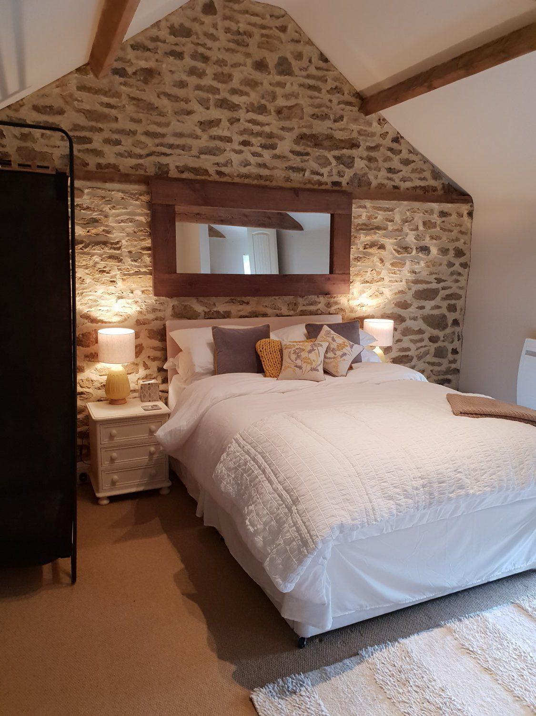 bedroom in a barn