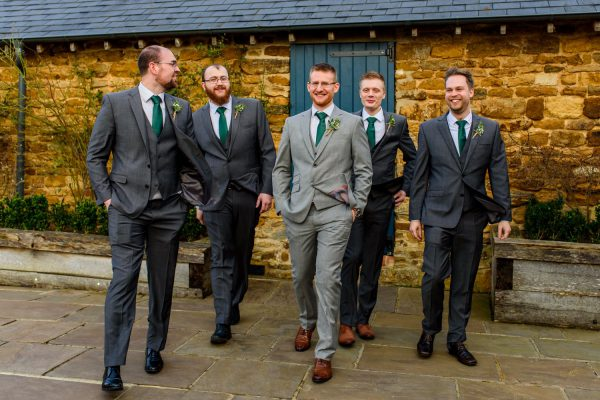 Groom with his best men